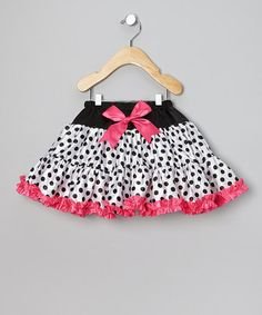 Take a look at this White & Fuchsia Polka Dot Tutu - Infant, Toddler & Girls by Ella's Tutus on #zulily today!