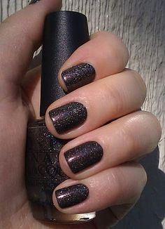 My Private Jet. FAVORITE OPI EVER!!! Looks silver and black but is iridescent in the light! Gorgeous on toes!