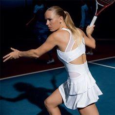 Caroline Wozniacki's @Kathy O'Neill kit by Stella McCartney #adidas #tennis