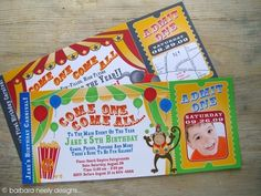 Carnival - Circus/Carnival Ticket Invitations by BNDesigns on Etsy