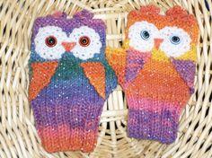 Lovely Owl Wrist Warmers FINGERLESS GLOVES by FASHIONABLEINFANT