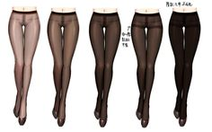 How to draw pantyhose