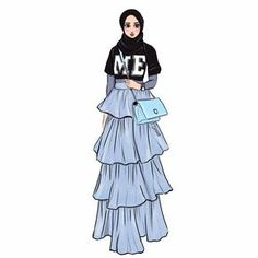 New Fashion Sketches Collection Style Ideas Muslim Fashion, Modest Fashion, Hijab Fashion, Trendy Fashion, Fashion Art, Fashion Models, Girl Fashion, Fashion Outfits, Style Fashion