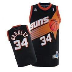 e8083e554 Mens Phoenix Suns Charles Barkley Number 34 Jersey Black Best Nba Jerseys