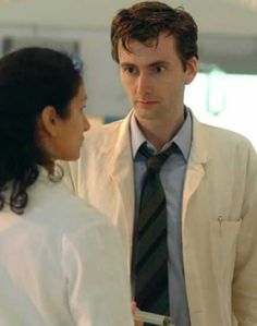 """Wait, The Doctor and Suzie? Is Suzie a Time Lord now (""""They Keep Killing Suzie"""")??? --------------------- David tennant & Indira Varma in The Quatermass Experiment   Pic: BBC"""