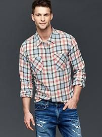 1969 icon worker plaid standard fit shirt