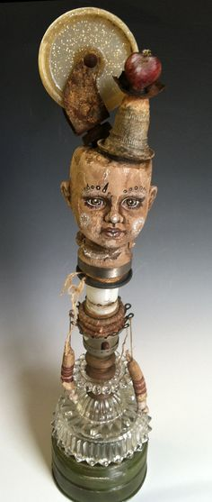 Carnival Totem Doll/ Original Assemblage Art by ClarissaCallesen
