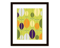 Mid century modern printabstract leaves8x10 by etchedandsketched, $14.00