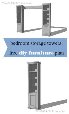FREE plans and tutorial! Learn how to build your own bedroom storage towers!