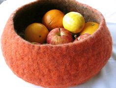 Felted Fruit Bowl NZ$60.00 on felt.co.nz