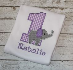 Girl's  Elephant Birthday Shirt-Ages 1-9 Available by thesimplyadorable on Etsy https://www.etsy.com/listing/127125860/girls-elephant-birthday-shirt-ages-1-9