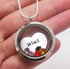 Mimi Necklace, Mimi Jewelry, Nana Necklace, Grandma Necklace, Personalized Grandma Locket, Grandchildren Birthstone, Gifts Grandmothers