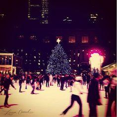 ice skating in bryant park in nyc <3