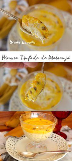Mousse Trufado de Maracujá, Equilibrio perfeito entre o azedinho do maracujá e o doce do chocolate branco. Cremosa, aerada, leve e mais fácil de fazer do que você imagina! Como …