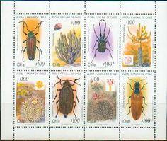 Chile 1995 Kleinbogen Flora und Fauna Käfer 1658-65 ** | eBay