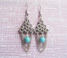 Hex Nut Earrings Jewelry Design Earrings, Bead Earrings, Diamond Earrings, Hex Nut Jewelry, Jewellery Display, Diy Jewellery, Hardware Jewelry, Recycled Jewelry, Handmade Beads