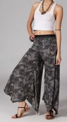 Pantalon femme évasé noir Lanzo sur www.akoustik-online.com