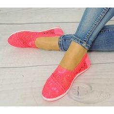Letné dámske espadrilky ružovej farby - fashionday.eu