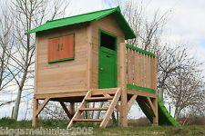 Chestnut Tower Wooden Playhouse Children's garden play den outdoor wendy house