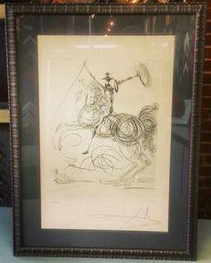 "Custom framed Salvador Dali ""Don Quixote"" signed and numbered Limited Edition. Custom framed by FastFrame of LoDo! #art #framing #denver #colorado #salvadordali #dali"