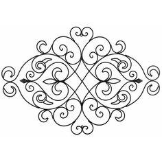 Hobby Crafts & Decor - Black Metal Swirl & Diamond Wall Decor