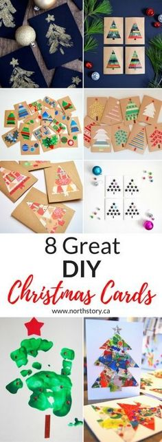 Eight great DIY Christmas Card Crafts by northstory #Christmas #ChristmasCards