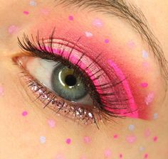 From the pages of Cosmopolitan and Buzzfeed it's all about Neon Eye Liner and in particular Stargazer Magenta Neon Eye Liner. We love this image featuring our Pink Neon Liner