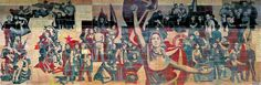 Gerhard Bondzin. The Path of the Red Banner. 1969. Kulturpalast (Dresden GERMANY) » 00 Gerhard Bondzin. The Path of the Red Banner. 1969. Dresden DDR. Kulturpalast mural #art #ddr