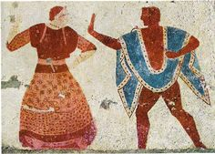 Etruscan women and men wore many types of tebenna mantles