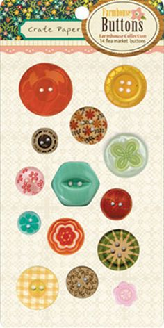 Crate Paper FARMHOUSE Buttons Studio Calico by AmyBugCrafts, $3.25