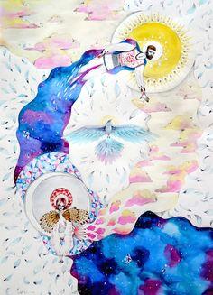 Sun&Moon Illustration - Watercolor
