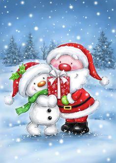 Christmas Rock, Christmas Scenes, Christmas Wishes, Christmas Pictures, Christmas Snowman, Christmas And New Year, Christmas Time, Vintage Christmas, Christmas Crafts