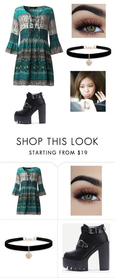 """Jennie (BLACKPINK) Outfit"" by rospark05 on Polyvore featuring Betsey Johnson and WithChic"