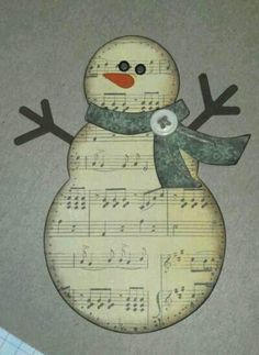 Snowman Music Sheet by klikes - Cards and Paper Crafts at Splitcoaststampers