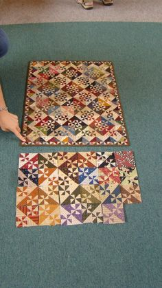 Love the look of the scrap mini quilt