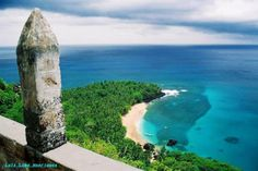 A landmark of beauty! Banana Beach, Island of Principe. (Sao Tome and Principe)