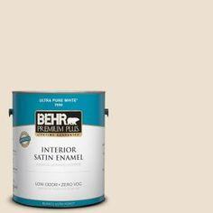 BEHR Premium Plus, 1-gal. #760C-2 Country Beige Zero VOC Satin Enamel Interior Paint, 705001 at The Home Depot - Mobile