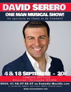 Réservez vite! David SERERO est à Paris pour 2 shows seulement...