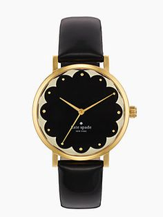 kate spade black and gold watch.
