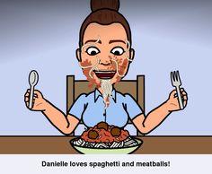 Dan loves meatballs