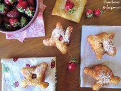 Paniers dorés aux fraises