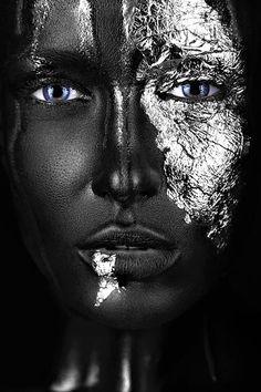 Black Women Art, Black Art, Black Gold, Photoshoot Themes, Dark Skin Girls, Wall Art Pictures, Portrait, Makeup Art, Female Art