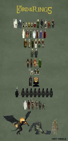 lord of the rings pixel art