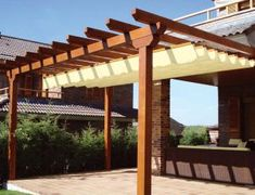 The pergola kits are the easiest and quickest way to build a garden pergola. There are lots of do it yourself pergola kits available to you so that anyone could easily put them together to construct a new structure at their backyard. Small Pergola, Pergola Attached To House, Deck With Pergola, Outdoor Pergola, Covered Pergola, Backyard Pergola, Patio Roof, Pergola Kits, Pergola Roof