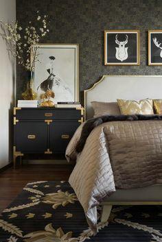 44 ideas for art deco interior wallpaper beds Deco Furniture, Colorful Furniture, Bedroom Furniture, Furniture Ideas, Furniture Layout, Furniture Makeover, Art Deco Bedroom, Bedroom Decor, Master Bedroom