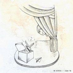 "ilustratia ""Cutia"" - Cartea, de Alex Ve"