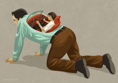 Drive me crazy Art Print by John Holcroft Satire, Satirical Illustrations, Art Illustrations, Meaningful Pictures, Powerful Pictures, Deep Art, Social Art, Drive Me Crazy, Weird Art