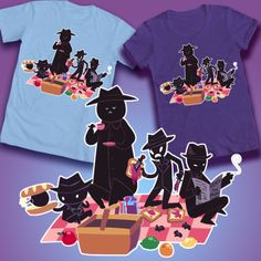 MIDNIGHT CREW PICNIC Designed by Nightmargin _ Homestuck Design Contest 2 - WeLoveFine -T-shirts designed for fans by fans
