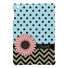 Funky Lil Daisy Dot iPad Mini Case -blue
