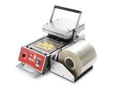 """TS2 termosigillatrice ermetica manuale serie """"TS"""" in acciaio inox (altezza max vaschetta 100mm, larghezza max bobina 190mm)"""